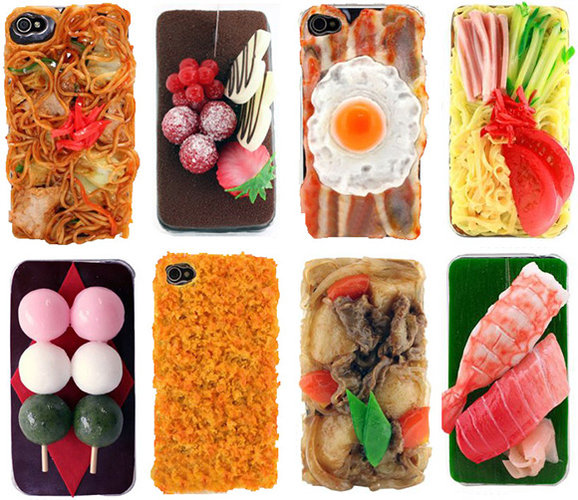 Japanese design company iMeshi is the undoubtable king of graphic food iPhone cases with a line up that includes tonkatsu, yakisoba, bento, and wildcard eggs with bacon. Order any one of their iPhone 4 cases on