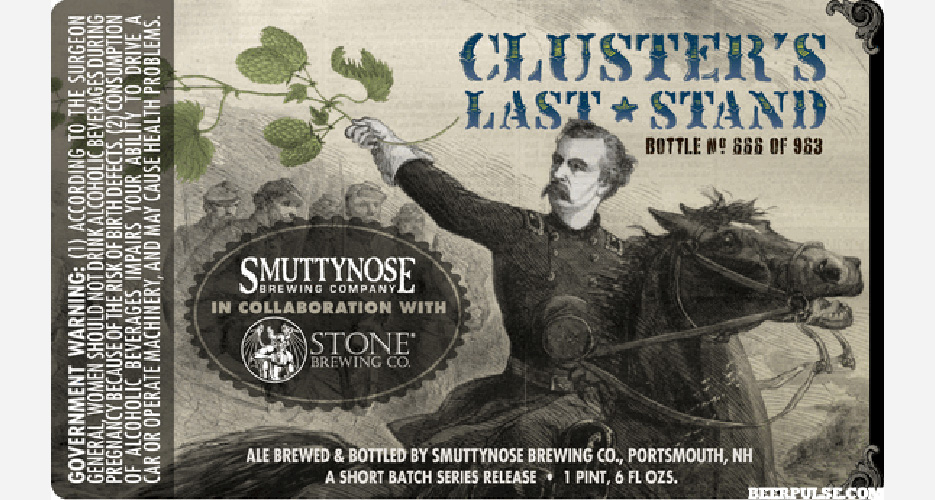Enjoy a little history pun with your craft beer. Can't wait to try this collaboration between Smuttynose and Stone.