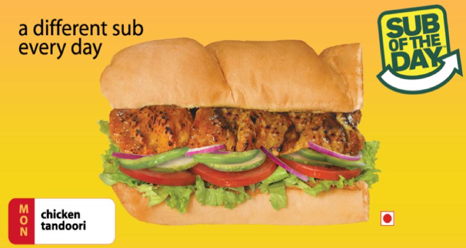subway india chicken tandoori sub