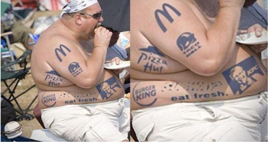 I hope this man gets paid for product placement. (Photo: Athlon Sports)