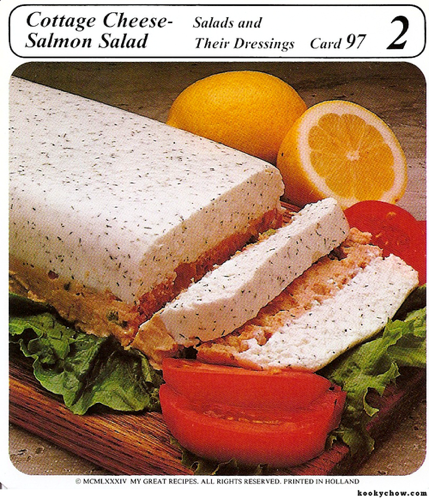 Salmon and cottage cheese loaf.