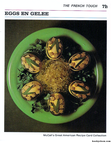 Jellied eggs.