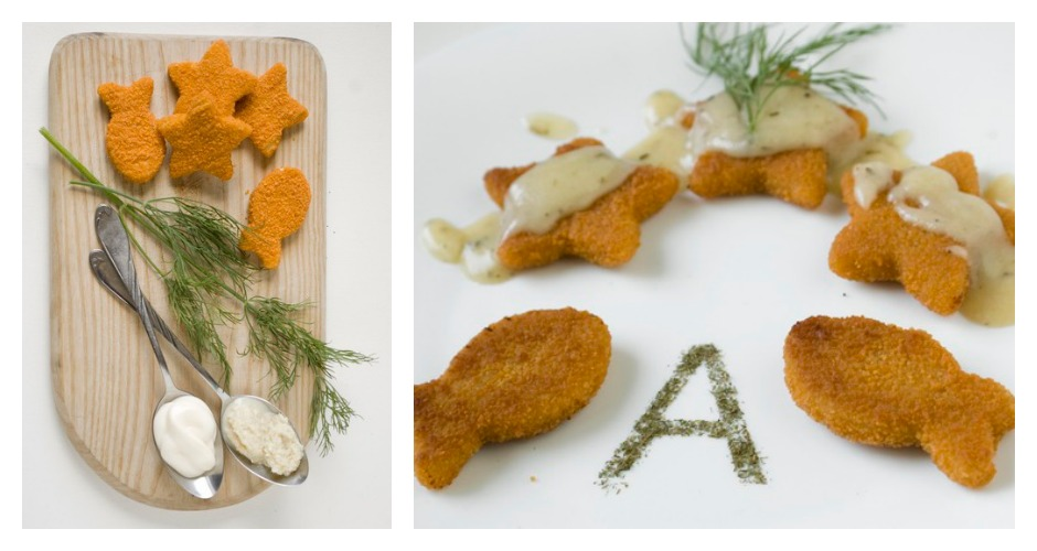 Arial is fish fingers (because it's similar to Helvetica, but not so delicate). [Photo: Prim Prim]