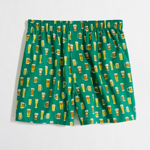 J. Crew offers one of the more classy beer boxers out there. Available online at