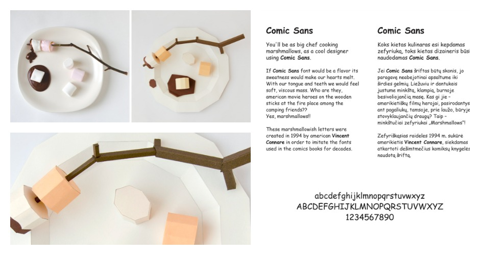 Comic Sans is marshmallows. [Photo: Prim Prim]