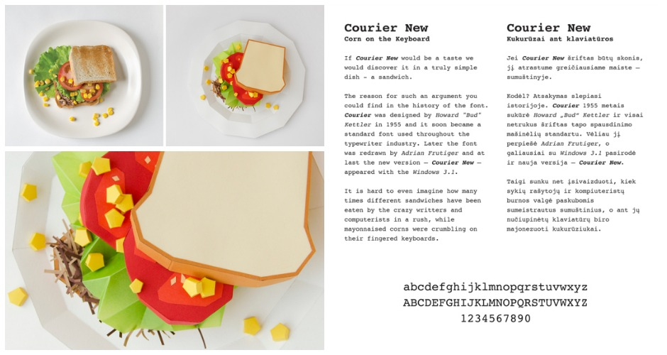 Courier New is a sandwich. [Photo: Prim Prim]