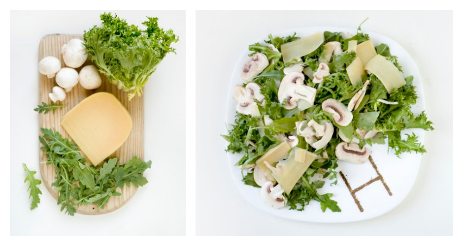 Helvetica Neue Ultra Light is a fine sliced champignons carpaccio (because, like the font, it's a light dish with the ingredients cut into strips). [Photo: Prim Prim]