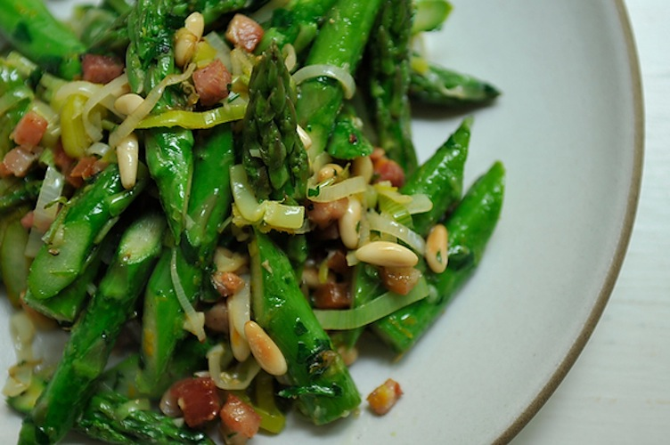 Absurdly Addictive Asparagus. Good news for all mankind: bacon is gluten-free. And leave it to its salty, smoky flavor to make even asparagus into something you can't put down.