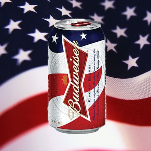 There's no denying the brilliant, in-your-face branding of Bud's flag cans.