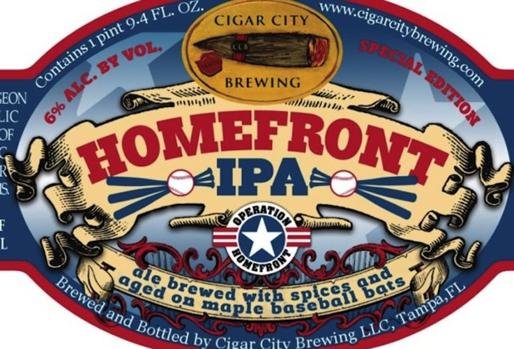 And this is the Cigar City edition of the same brew. Aging beer on baseball bats is very American.
