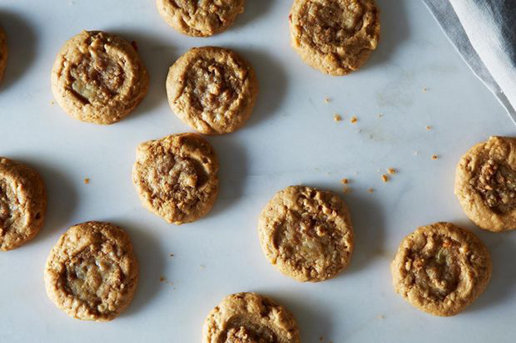 Peanut Butter and Cheese Cookies . Here's one of those foods you just have to taste to understand. With a little faith in a weird, but wonderful, combination, you'll get a delicious cookie that's not too sweet and has a wonderful savory, cheesy bite at its center. One taste and you'll really believe that cheese makes everything—even cookies—better.