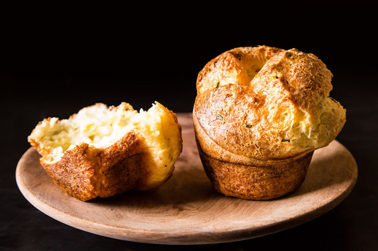 Black Pepper Popovers with Chives and Parmesan. If you think croissants are good, just wait until you try popovers, their low-maintenance cousin. They're light, buttery, and so simple that even you (yes, you!) can make them at home. Even better than your standard popover is one that's been turned savory with flecks of pepper and—no surprise here—Parmesan cheese.