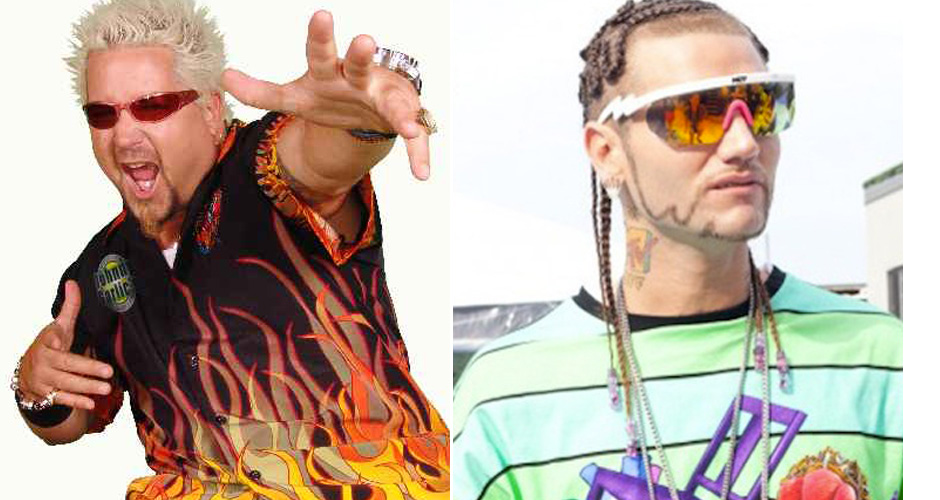 Guy Fieri and Riff Raff. The greatest troll rap song in history is so close we can taste it.