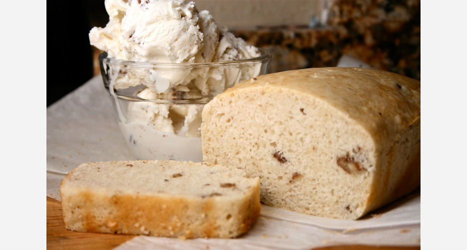 Ice Cream Bread. As mind-boggling as it sounds, ice cream bread is very legitimate and easy to make (we know because we've tested it). With a pint of ice cream and self-rising flour, you can turn any one of your favorite flavors into a sweet, soft loaf of bread. Here's a good recipe from