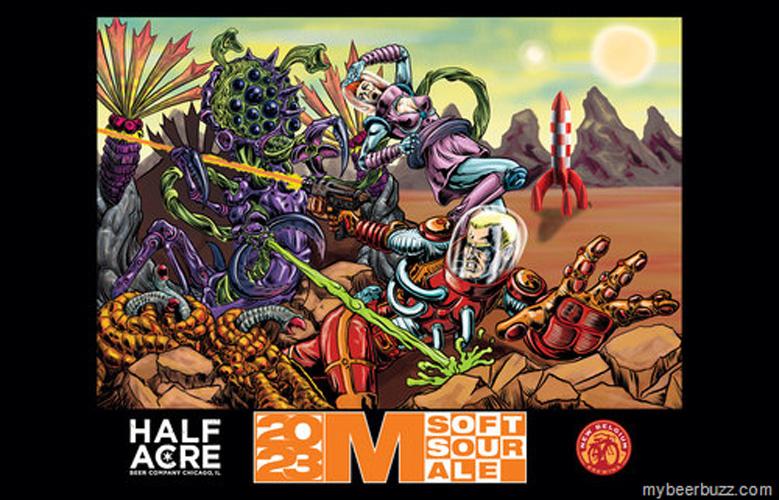 Half Acre and New Belgium imagine comic-book alien warfare.