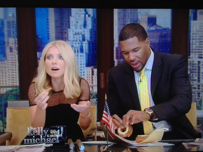 Kelly Ripa: Kelly had a Cronut, along with every other morning host out there (but Kelly's the most famous one.) And look at that hilarious facial expression! Also, we refuse to dignify Fox and Friends with its own slide.