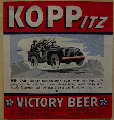 What could be more American than victory beer?
