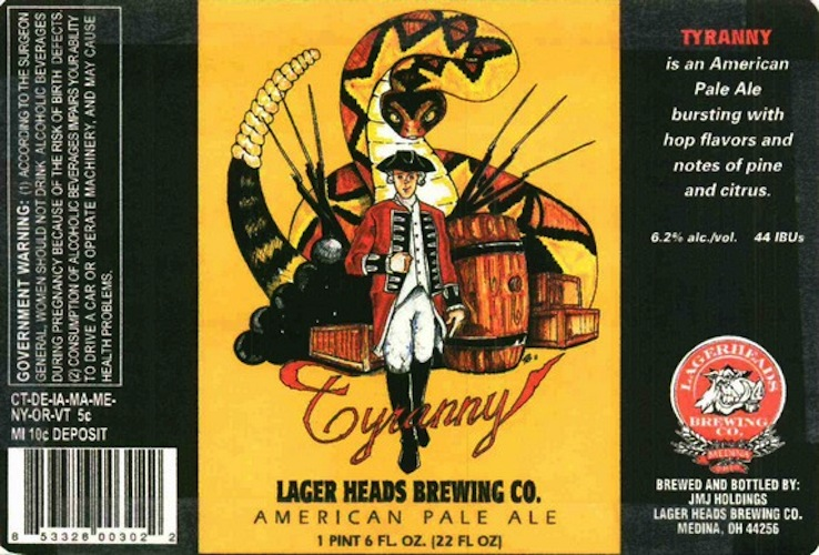If you can't unpack the imagery on this label, it's time to go back to AP American History.