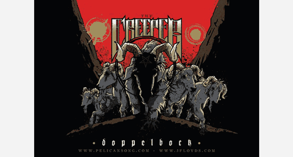 Three Floyds' first metal collaboration was with the band Pelican for 2010's The Creeper Doppelbock.