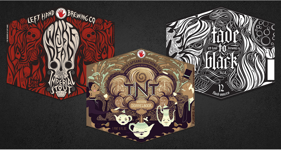 """""""We did not name [these] beers after bands/songs,"""" says Left Hand VP of Operations Chris Lennert. """"Viva Liberace!"""" adds VP of Brewing Operations Joe Schiraldi. (Collage by David Sizemore)"""