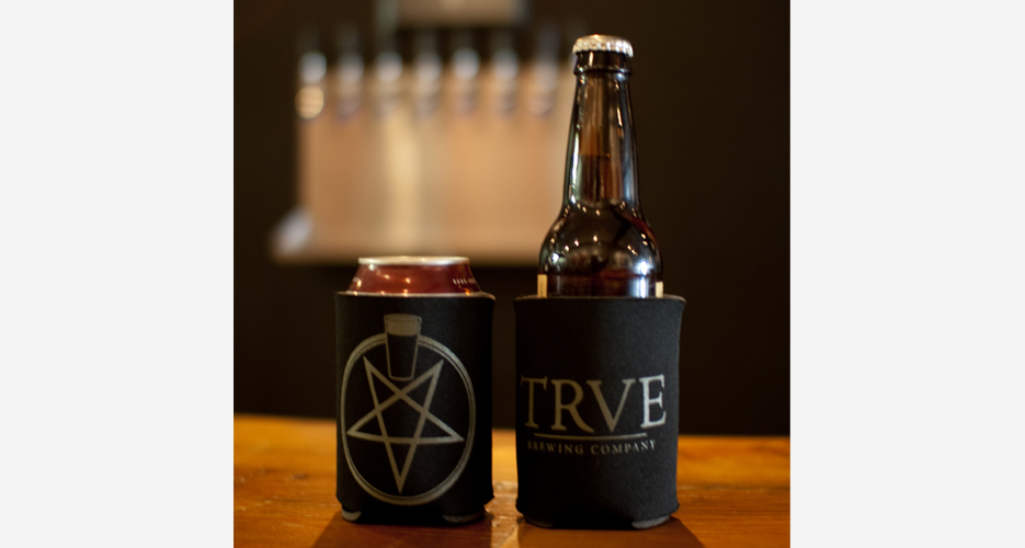 "The ""Küzie"" sold at TRVE, ""Denver's true metal brewery."""