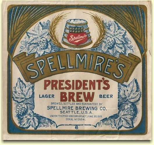 Spellmire's out of Seattle also had a medicinal tonic of malts and hops with George Washington on the label.