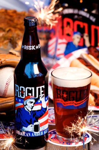 Rogue kept it simple and patriotic for its American Amber Ale.