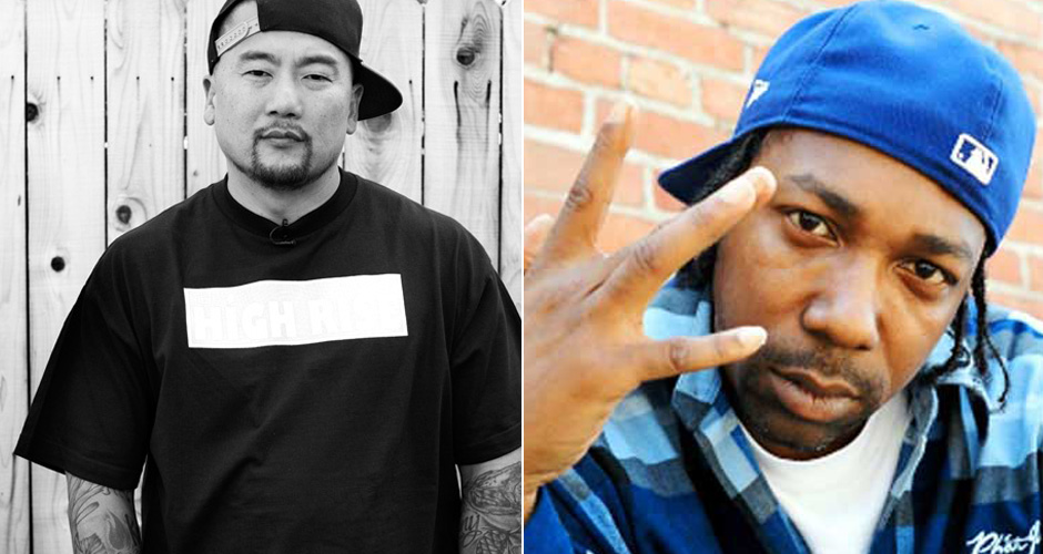 Roy Choi and MC Eiht. Roy is the most hip-hop chef in the game, so he'd have to do a proper L.A. joint.