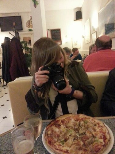 Up close and personal with pizza... and wine?