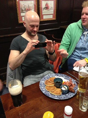 Guinness and pancakes is a champions breakfast.