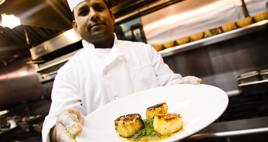 Benares cook Dominic Gomes is a scallop maestro. Click through the gallery to see how he does it...