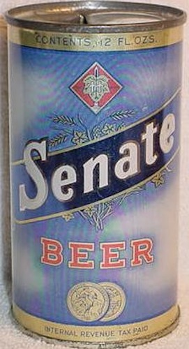 """Senate Beer wasn't government-sanctioned, but back in the day all beer labels had to declare, """"Internal Revenue Tax Paid."""""""
