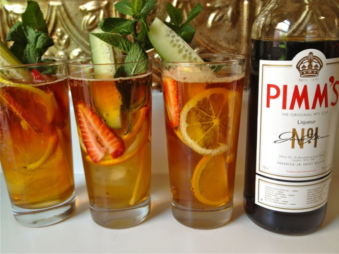 Pimm's Cup. The quintessential summer drink of England (and a Wimbledon staple), this classic might be thought of as the fruitier and more herbaceous cousin of sangria. A great version is made with Pimm's No. 1, a gin-based spirit, ginger ale or lemonade, and plenty of cucumber, mint, lemon, apple,and orange slices, all served up in a tall glass. Stuff in enough fruit to trick yourself into thinking it's healthy to be drinking before noon. Spoons to Sporks)