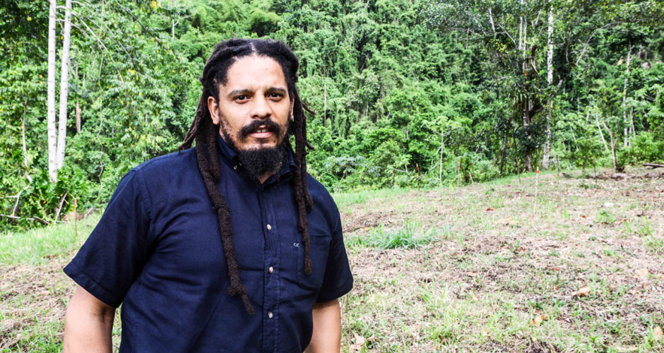 Rohan Marley on his Farm in Jamaica