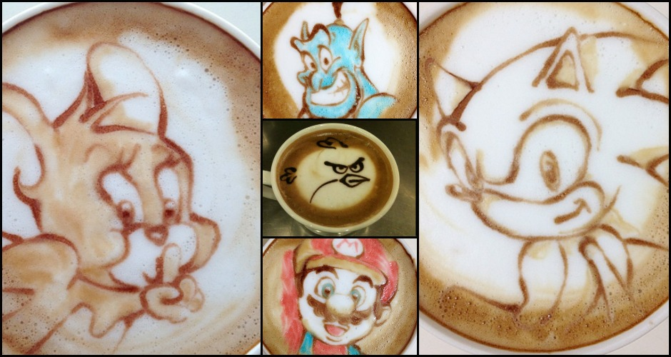 Animated characters have also made their way into the latte art game. (Photos: Nowtoo Sugi, Msn.com)