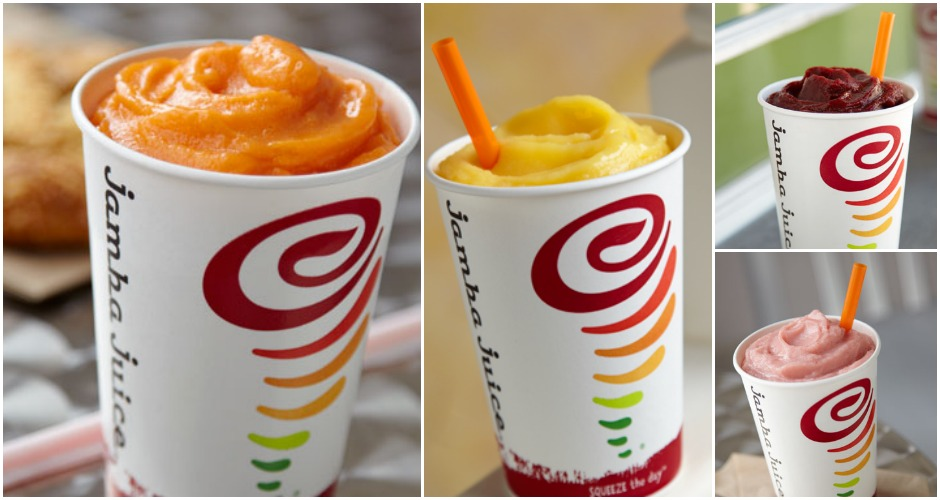 """Name: Jamba Juice Website: JambaJuice.com Least Expensive Item:  $4.95 for a 16oz smoothie Most Expensive Item:  $6.85 for a 32oz smoothie Good For: People who are as serious about health as they are about the Facebook Causes they """"like""""—let's face it, this is the McDonald's of juice chains."""