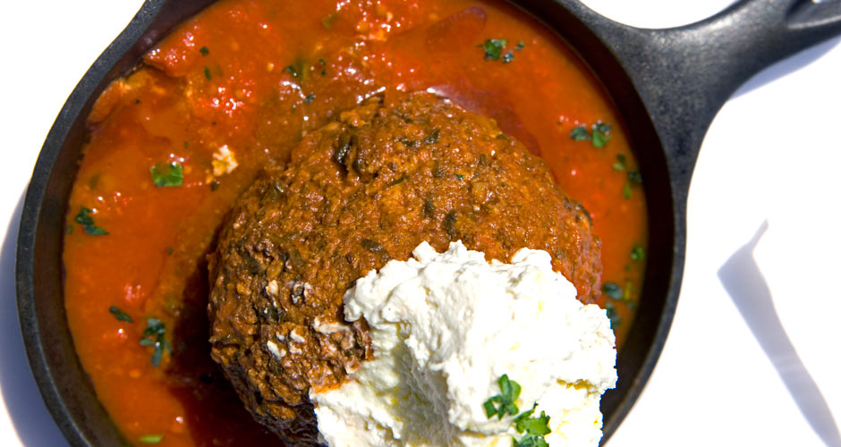 The 16-ounce Kobe Meatball at Lavo.  Mooks go to Lavo to eat these enormous beef, pork, and veal meatballs on the reg. They wash them down with vodka sodas. (Photo: