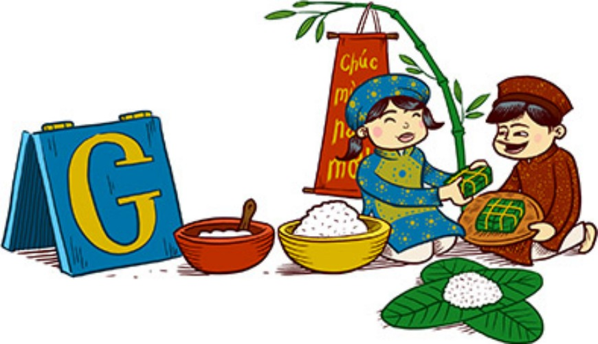 Lunar New Year 2013 - Vietnam People celebrate the new year by eating BánhChung, a savory-sweet cake made from glutinous rice rolled around mung bean-pork filling and wrapped in a banana leaf.(Photo: Google)