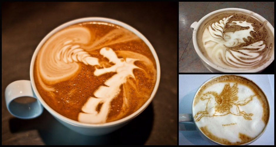 Latte with a touch of the mythical. (Photos:  Apartment Therapy, Salon.com, Flickr/jrobbelee)