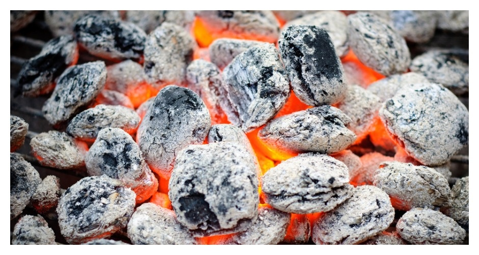 Grilling Trick: Know When the Coals are Ready to Start Cooking. Here are some simple visual cues to look out for—if you have a wood fire, when the coals are red hot (with no smoke) you are ready to go. If you have a charcoal fire, the coals should be grey and ashy. (Photo: