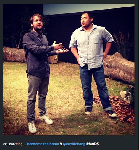 The MAD3 co-curators René Redzepi and Dave Chang (Photo: