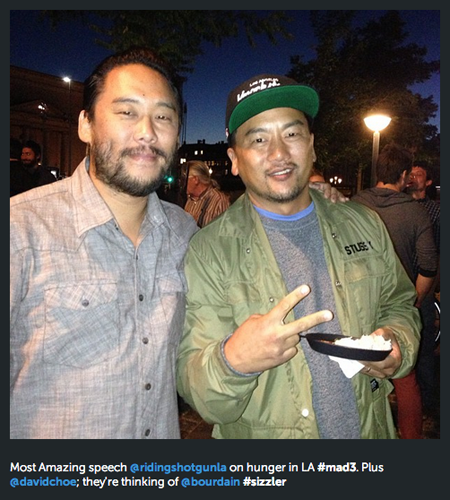 Food & Wine's Kate Krader loved Kogi BBQ chef Roy Choi's speech on hunger in L.A. (Photo: