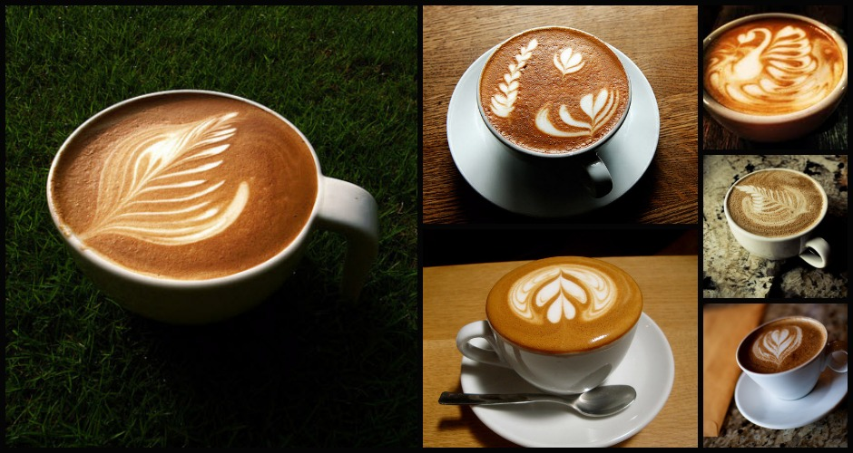 The rosetta is the most classical latte art design. (Photo: BonnieMiletto, Photo: Flickr/AndersMadsen, Photo: Flickr/Pouang)