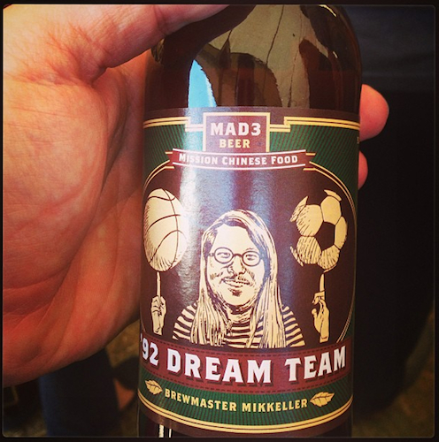 We'd really like to try this Danny Bowien '92 Dream Team beer that