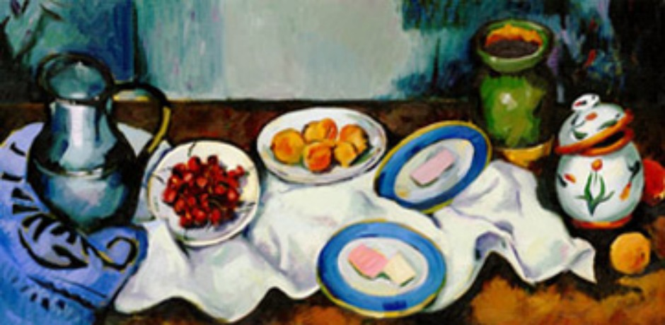 Cezanne's 172nd Birthday. Many of post-Impressionist painter Paul Cézanne's paintings include foods like apples, peaches, pomegranates, and cherries. (Photo: Google)
