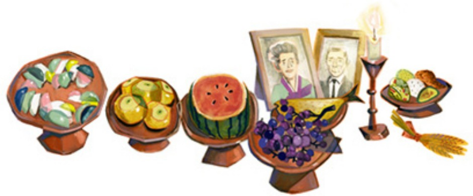 Chuseok 2012. This is Korean Thanksgiving, where people feast onFried Fish,Pears,Watermelon,Pickled Side Dishes, andSweet Dumplings. (Photo: Google)