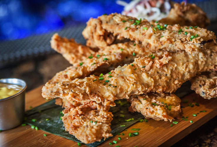 Deep-Fried Bacon. You can find this artery-clogging abomination at Tavern at The Beach in San Diego. (Photo: