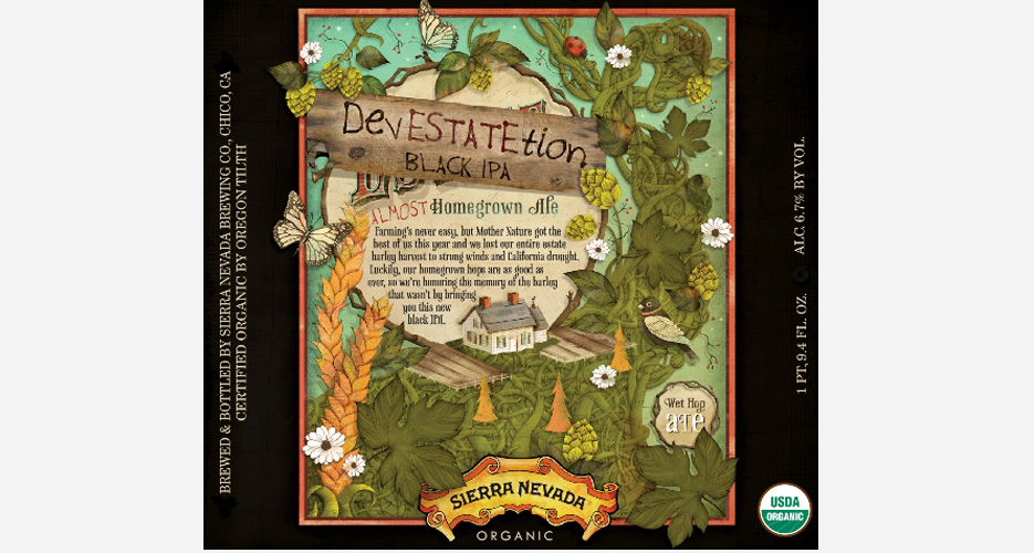 Sad that Sierra Nevada can't put out this year's Estate Ale due to problems with the barley harvest, but glad it inspired this great label.