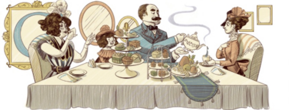 Emma Gad's 161th Birthday. This Danish writer is famous for the book she wrote on dining etiquette. (Photo: Google)