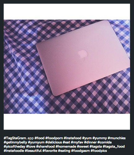 Deploying 26 hashtags on a photo of your laptop may, in fact, be the worst use of technology since Anthony Wiener snapped a photo of his junk.